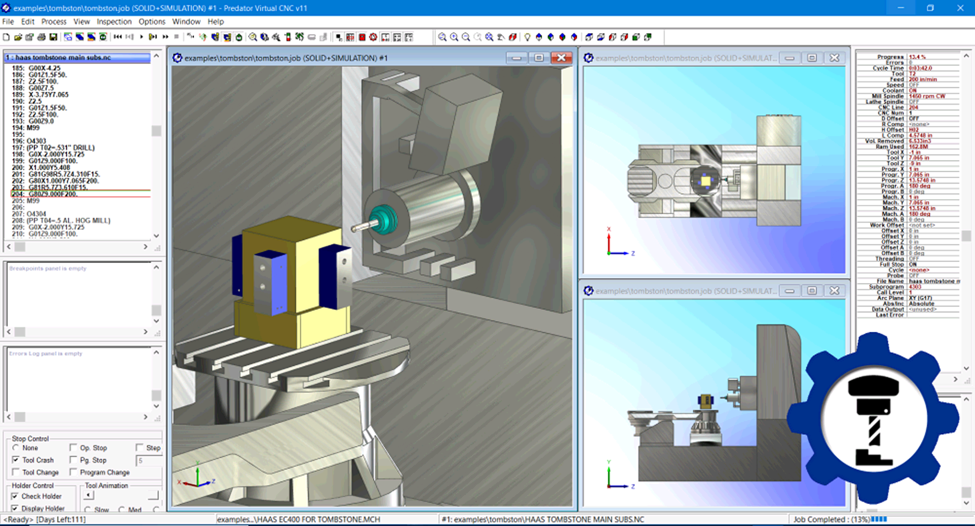 Predator Virtual CNC Software Version 11 Release History