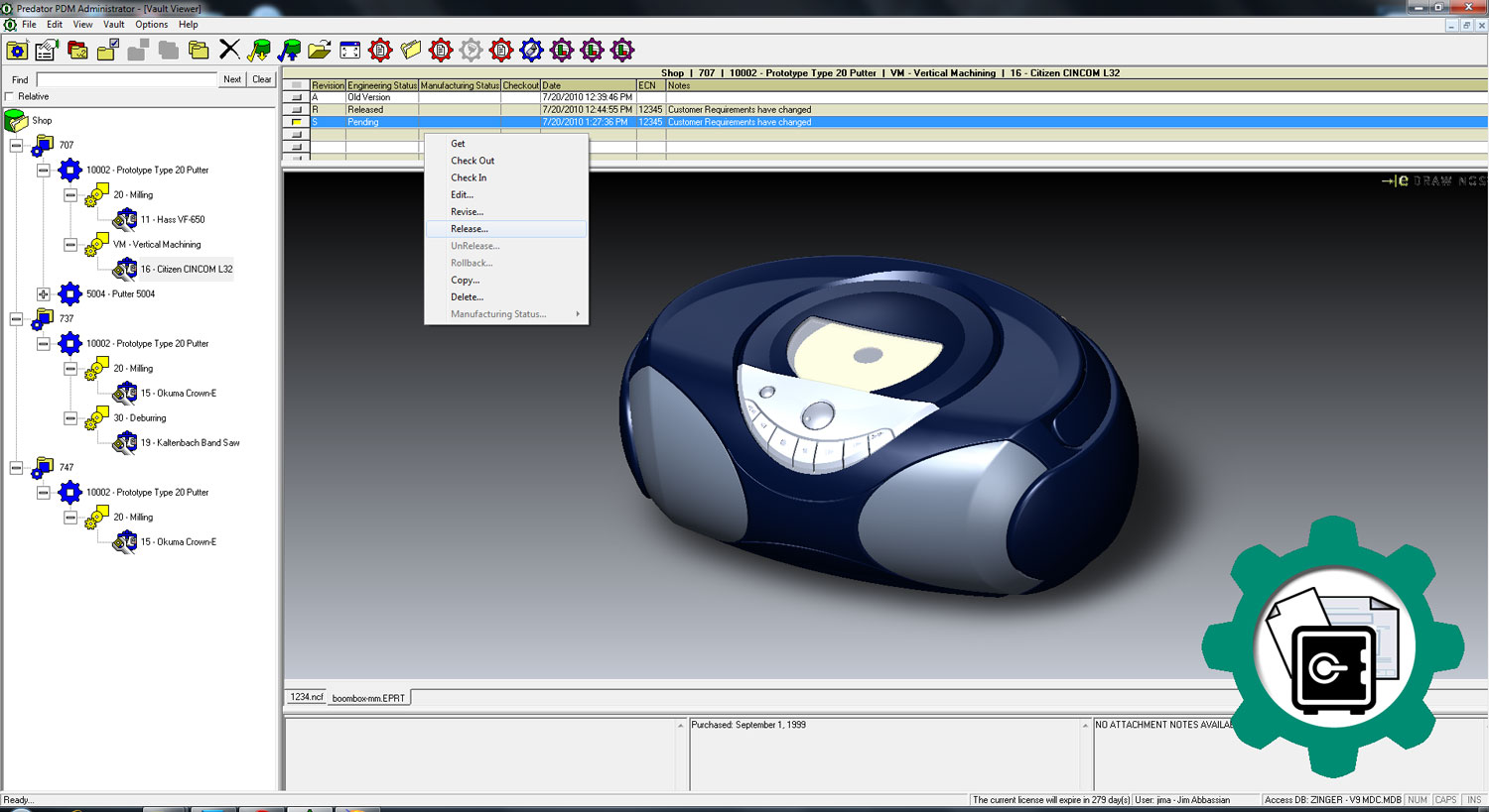 Predator PDM software