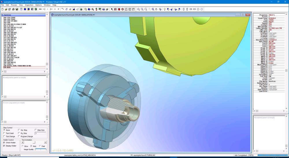 Predator Virtual CNC software for 3D CNC machine simulation